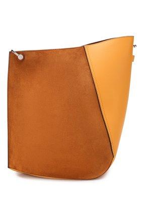 Женская сумка hook medium LANVIN коричневого цвета, арт. LW-BGTQ00-SINE-P20 | Фото 1