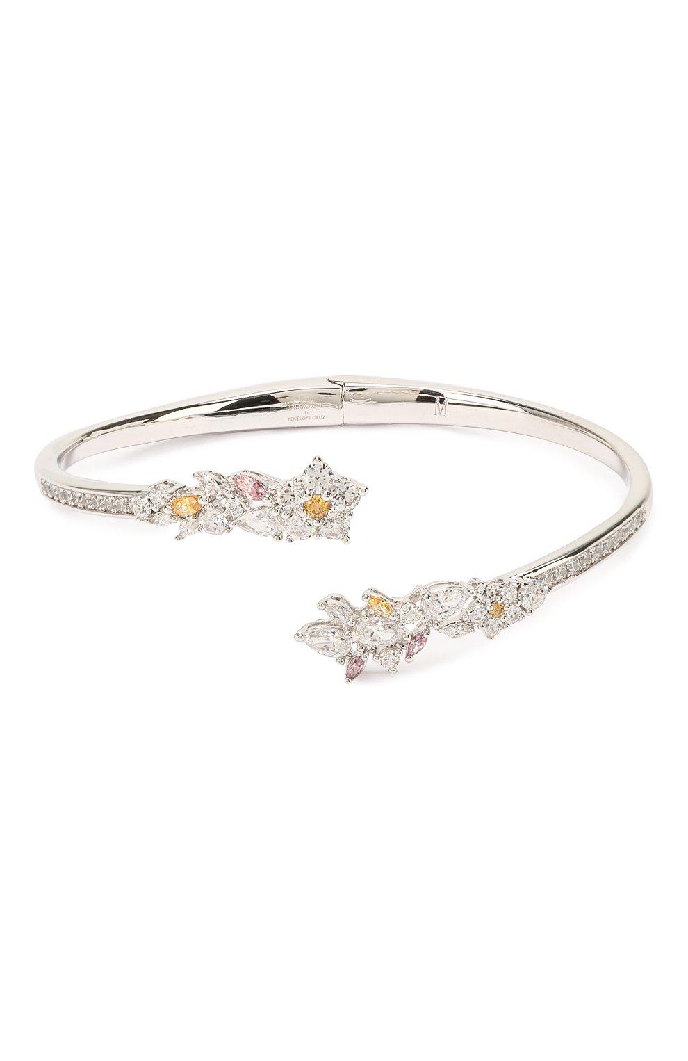 Женский браслет-кафф botanical SWAROVSKI серебряного цвета, арт. 5535872 | Фото 1