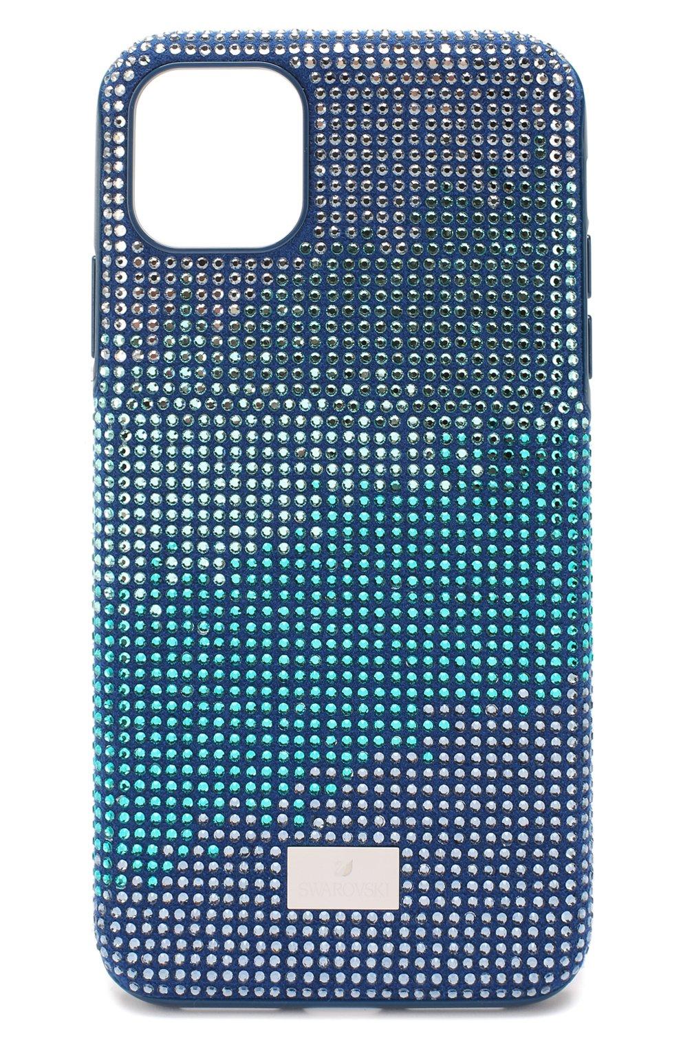 Мужской чехол для iphone 11 pro max SWAROVSKI синего цвета, арт. 5533965   Фото 1