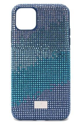 Мужской чехол для iphone 11 pro max SWAROVSKI синего цвета, арт. 5533965 | Фото 1