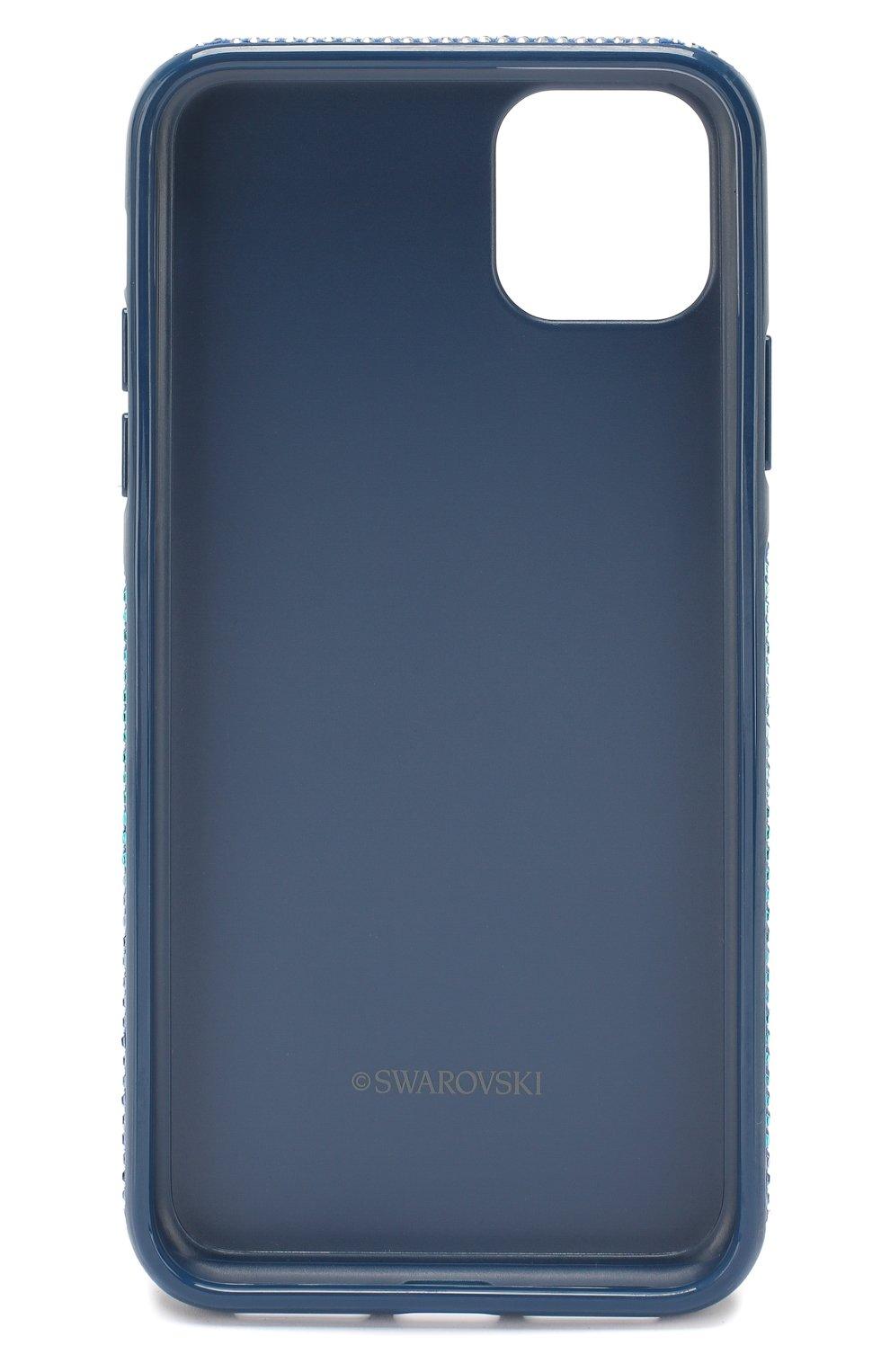 Мужской чехол для iphone 11 pro max SWAROVSKI синего цвета, арт. 5533965   Фото 2