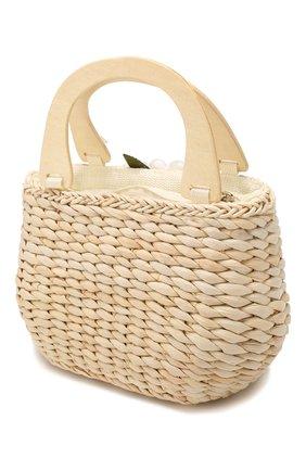 Детская соломенная сумка MONNALISA белого цвета, арт. 175014 | Фото 2