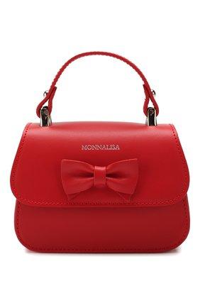 Детская кожаная сумка MONNALISA красного цвета, арт. 175BAS | Фото 1