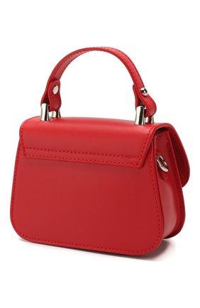 Детская кожаная сумка MONNALISA красного цвета, арт. 175BAS | Фото 2
