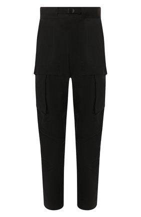 Мужские хлопковые брюки-карго BOTTEGA VENETA черного цвета, арт. 606023/VA8Q0 | Фото 1 (Материал внешний: Хлопок, Синтетический материал; Длина (брюки, джинсы): Стандартные; Силуэт М (брюки): Карго; Случай: Повседневный; Стили: Минимализм)