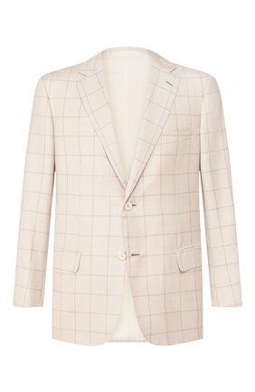 Мужской пиджак из смеси шерсти и шелка BRIONI кремвого цвета, арт. RGH00L/P9405/PARLAMENT0 | Фото 1