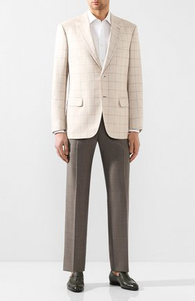Мужской пиджак из смеси шерсти и шелка BRIONI кремвого цвета, арт. RGH00L/P9405/PARLAMENT0 | Фото 2