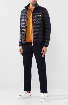 Мужская пуховая куртка petichet MONCLER темно-синего цвета, арт. F1-091-1A116-00-53029 | Фото 2