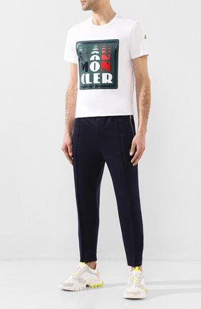 Мужская хлопковая футболка MONCLER белого цвета, арт. F1-091-8C710-10-8390T | Фото 2