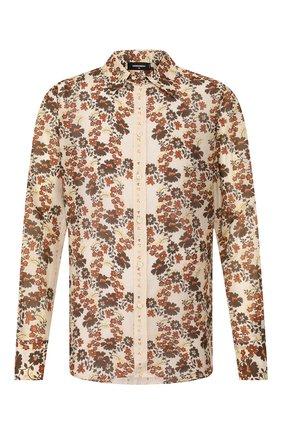 Мужская рубашка из смеси хлопка и шелка DSQUARED2 бежевого цвета, арт. S74DM0403/S52494 | Фото 1