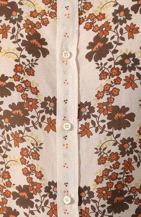 Мужская рубашка из смеси хлопка и шелка DSQUARED2 бежевого цвета, арт. S74DM0403/S52494 | Фото 5