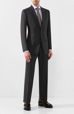 Мужской шерстяной костюм TOM FORD серого цвета, арт. 711R16/21AL43 | Фото 1