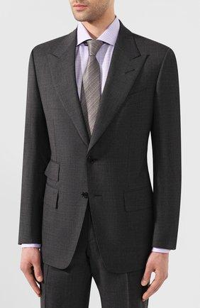 Мужской шерстяной костюм TOM FORD серого цвета, арт. 711R16/21AL43 | Фото 2