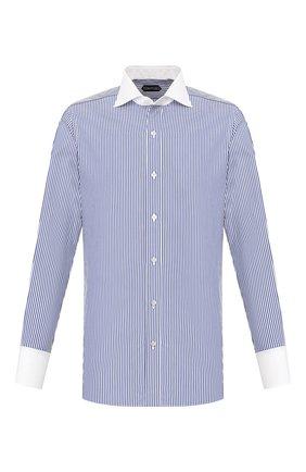 Мужская хлопковая сорочка TOM FORD синего цвета, арт. 7FT771/94SWAX | Фото 1