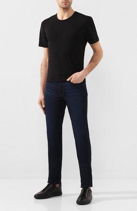 Мужская футболка из смеси хлопка и вискозы PAIGE черного цвета, арт. M689E12-1086 | Фото 2