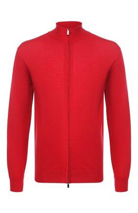 Мужской кашемировый кардиган GIORGIO ARMANI красного цвета, арт. 3HSEA4/SMB7Z | Фото 1