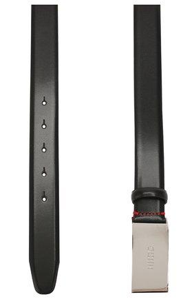 Мужской кожаный ремень HUGO черного цвета, арт. 50218261 | Фото 2