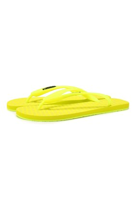 Мужские шлепанцы VETEMENTS желтого цвета, арт. SS20SD006 1374/M | Фото 1