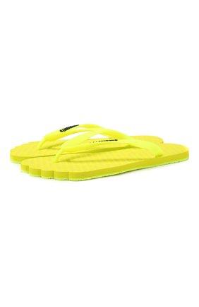 Мужские шлепанцы VETEMENTS желтого цвета, арт. SS20SD001 1374/M | Фото 1