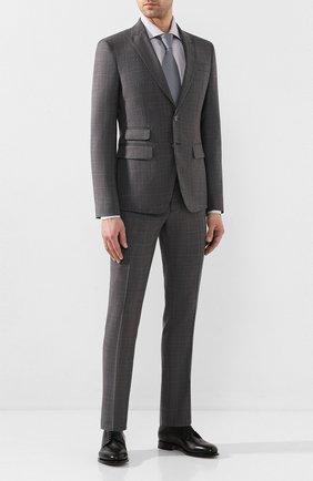 Мужской кожаные дерби SANTONI черного цвета, арт. MCC013974PC4NGTHN01 | Фото 2
