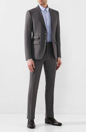 Мужские кожаные пенни-лоферы SANTONI темно-серого цвета, арт. MCAZ16569SA3ECGCG45 | Фото 2