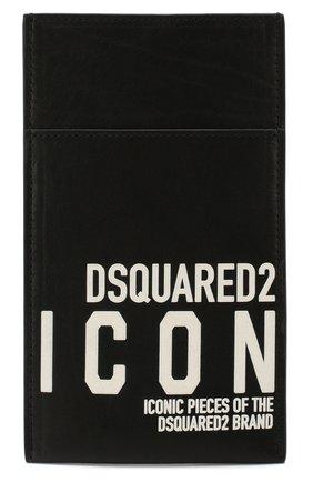 Мужской кожаный футляр для кредитных карт DSQUARED2 черного цвета, арт. P0M0012 12902618 | Фото 1