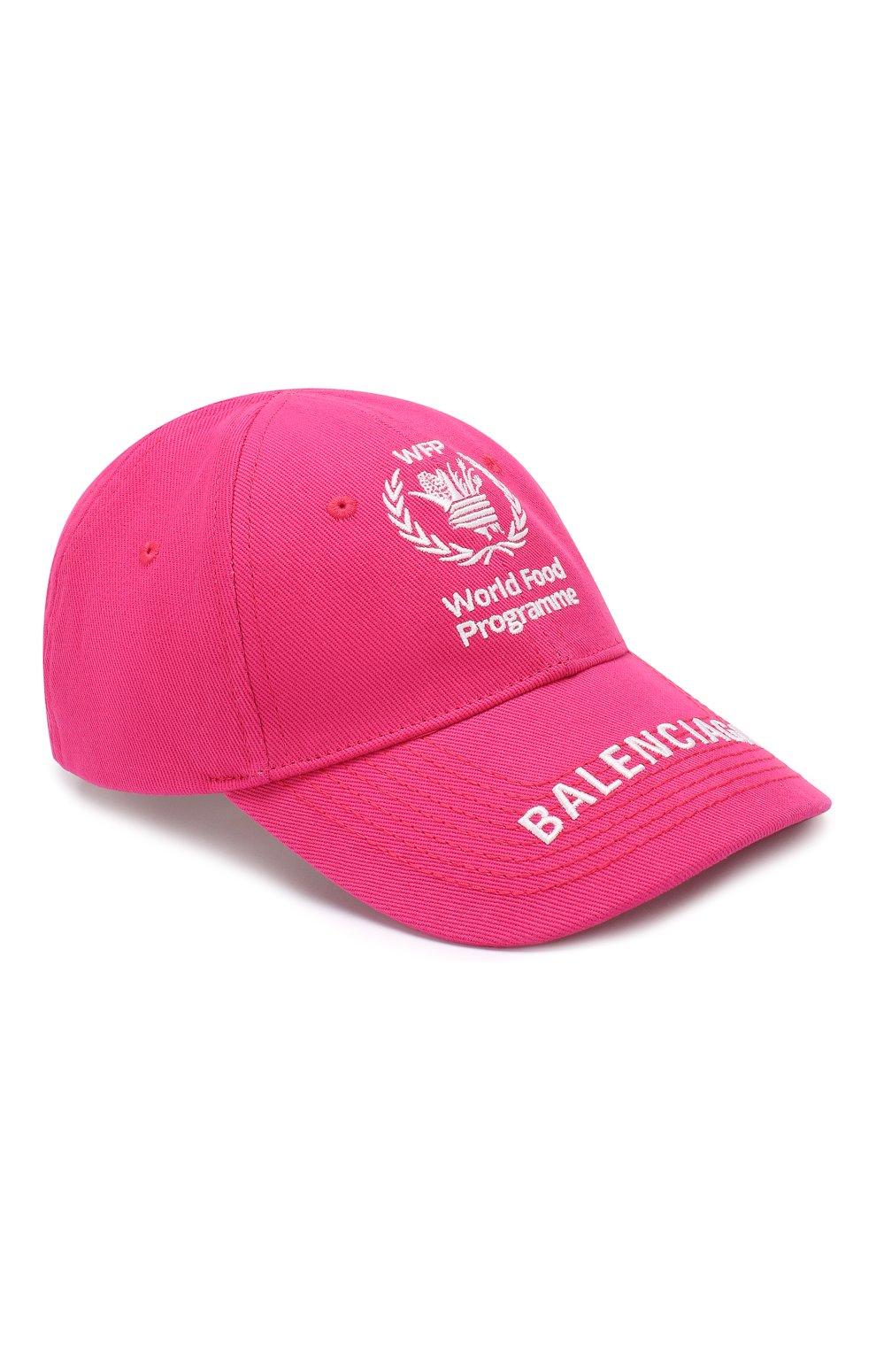 Мужской хлопковая бейсболка BALENCIAGA розового цвета, арт. 612955/310B2 | Фото 1