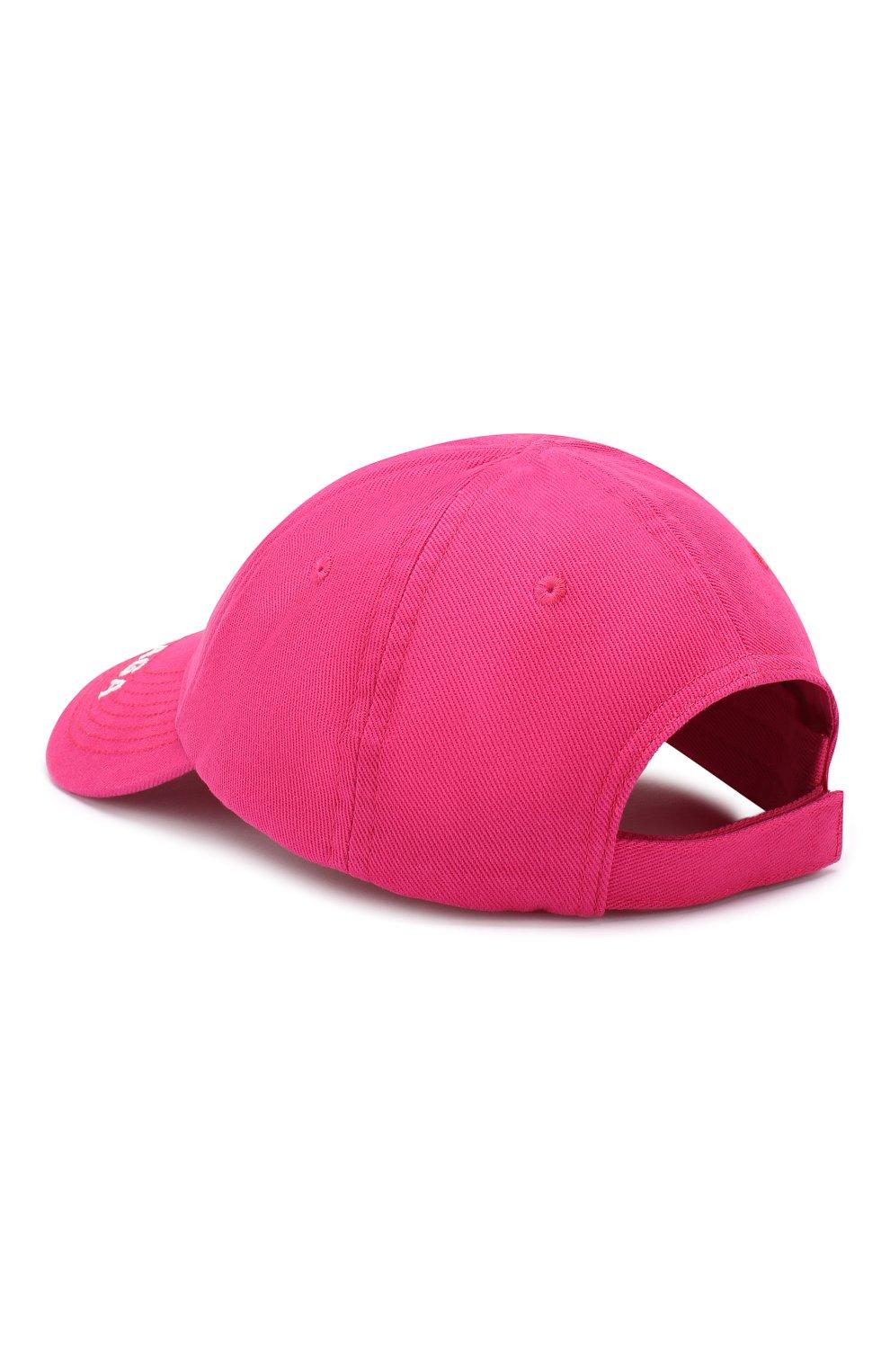 Мужской хлопковая бейсболка BALENCIAGA розового цвета, арт. 612955/310B2 | Фото 2