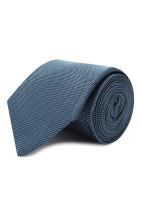 Мужской шелковый галстук LUIGI BORRELLI голубого цвета, арт. LC80-B/TT9061 | Фото 1