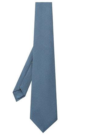 Мужской шелковый галстук LUIGI BORRELLI голубого цвета, арт. LC80-B/TT9061 | Фото 2