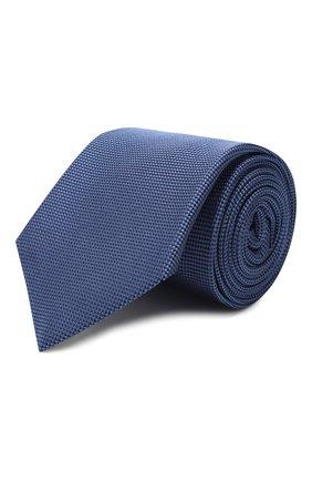 Мужской шелковый галстук LUIGI BORRELLI синего цвета, арт. LC80-B/TT9061 | Фото 1