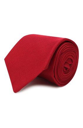Мужской шелковый галстук LUIGI BORRELLI красного цвета, арт. LC80-B/TT9061 | Фото 1