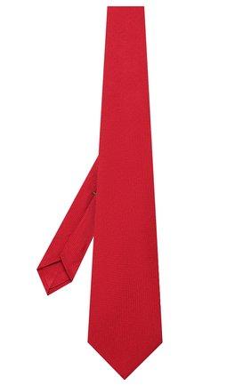 Мужской шелковый галстук LUIGI BORRELLI красного цвета, арт. LC80-B/TT9061 | Фото 2