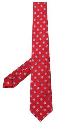 Мужской шелковый галстук LUIGI BORRELLI красного цвета, арт. LC80-B/TT9079 | Фото 2
