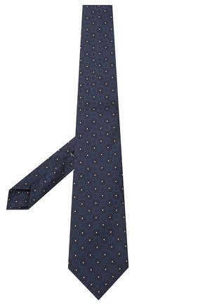 Мужской шелковый галстук LUIGI BORRELLI темно-синего цвета, арт. LC80-B/TT9185 | Фото 2