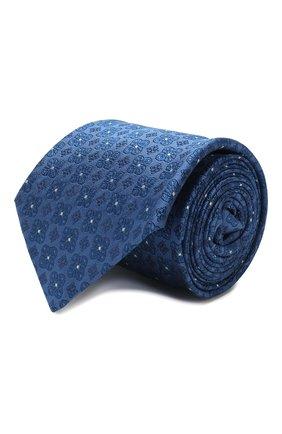 Мужской шелковый галстук LUIGI BORRELLI синего цвета, арт. LC80-B/TT9185 | Фото 1