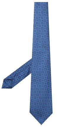Мужской шелковый галстук LUIGI BORRELLI синего цвета, арт. LC80-B/TT9185 | Фото 2