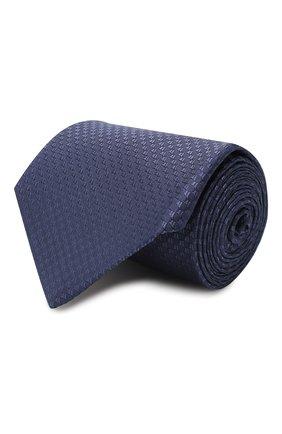 Мужской шелковый галстук LUIGI BORRELLI темно-синего цвета, арт. LC80-B/TT9200 | Фото 1 (Материал: Текстиль; Принт: Без принта)