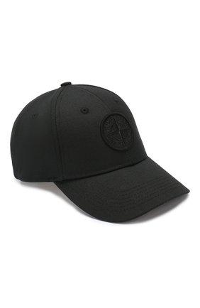 Мужской хлопковая бейсболка STONE ISLAND черного цвета, арт. 721599168 | Фото 1