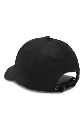 Мужской хлопковая бейсболка STONE ISLAND черного цвета, арт. 721599168 | Фото 2