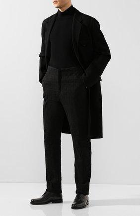 Мужской кожаные дерби BOTTEGA VENETA темно-серого цвета, арт. 608739/VBRB0 | Фото 2