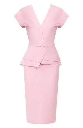 Женское шерстяное платье ROLAND MOURET светло-розового цвета, арт. PS20/S0392/F4044 | Фото 1