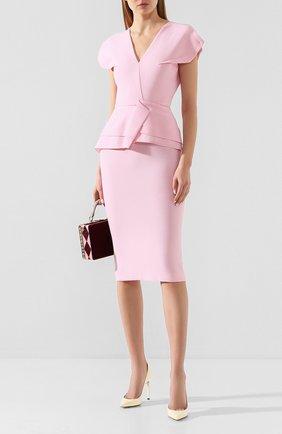 Женское шерстяное платье ROLAND MOURET светло-розового цвета, арт. PS20/S0392/F4044 | Фото 2
