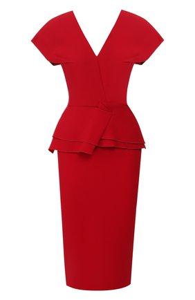 Женское шерстяное платье ROLAND MOURET красного цвета, арт. PS20/S0392/F4044 | Фото 1