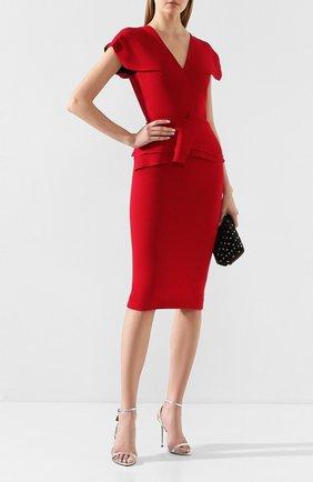 Женское шерстяное платье ROLAND MOURET красного цвета, арт. PS20/S0392/F4044 | Фото 2