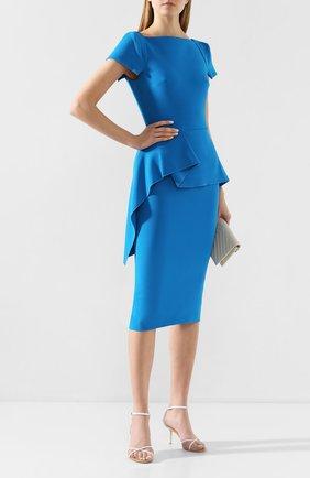 Женское платье ROLAND MOURET синего цвета, арт. PS20/S0745/F2196 | Фото 2