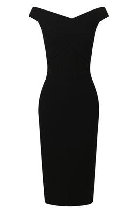 Женское шерстяное платье ROLAND MOURET черного цвета, арт. PS20/S0783/F4044   Фото 1