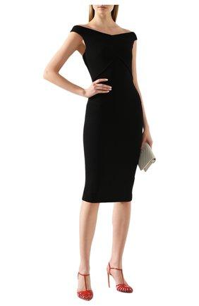 Женское шерстяное платье ROLAND MOURET черного цвета, арт. PS20/S0783/F4044   Фото 2