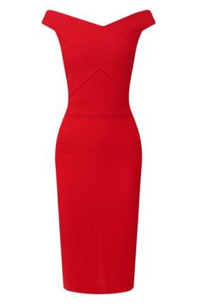 Женское шерстяное платье ROLAND MOURET красного цвета, арт. PS20/S0783/F4044   Фото 1