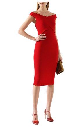 Женское шерстяное платье ROLAND MOURET красного цвета, арт. PS20/S0783/F4044   Фото 2